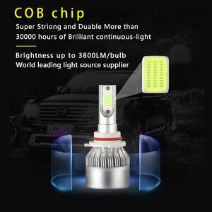 Image 2 - 2x H7 LED H11 H4 Hi/Lo H1 H3 H8 HB1 HB3 HB4 HB5 PS24W HIR2 H13 H16 H27 9005 Car Headlight Bulbs 3000K 4300K 6000K 8000K COB C6