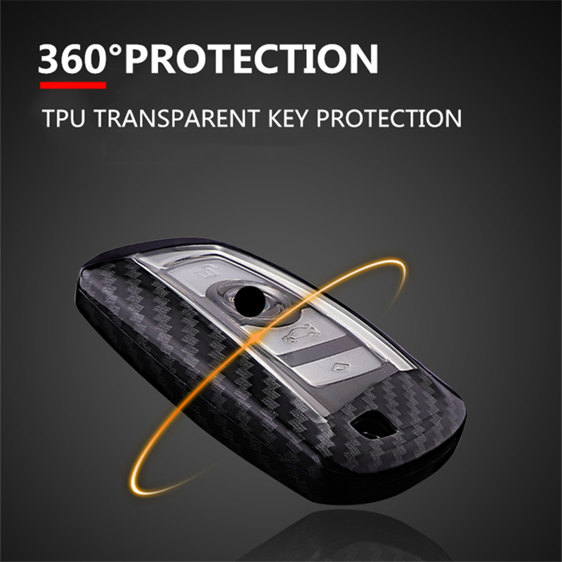 Image 3 - Car Styling Carbon Fiber+PC Key Cover Shell Case For Bmw New1 3 4 5 6 7Series F10 F20 F30 Smart 3/4 Buttons Accessories Keychain-in Key Case for Car from Automobiles & Motorcycles