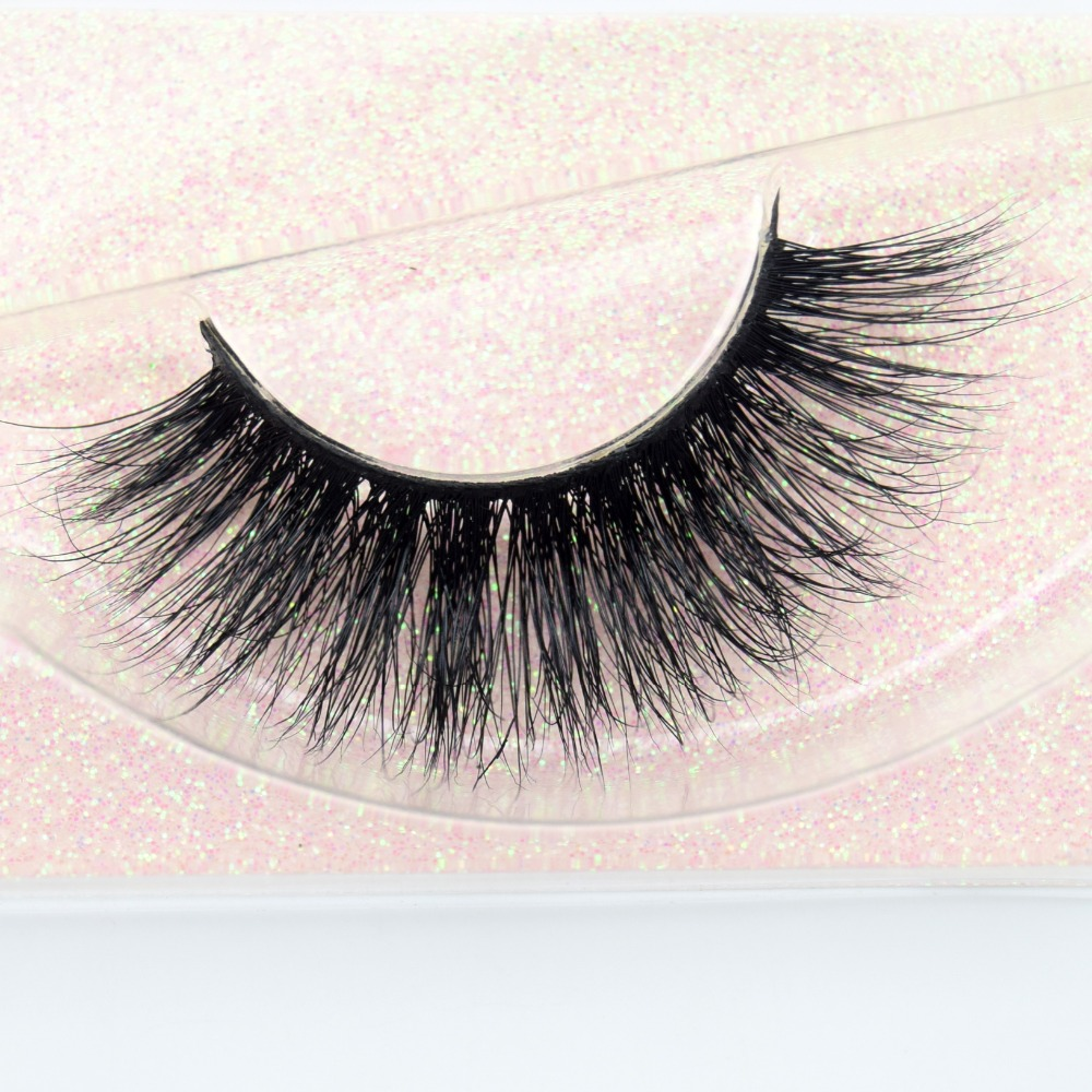 Visofree Eyelashes 3D Mink Lashes Makeup Handmade Full Strip Mink Eyelashes Soft Fluffy Eyelashes Full Volume False Eyelash E03