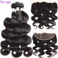 Remy Hair 13x4 Ear To Ear Lace Frontal Closure With Bundles Brazilian Body Wave Human Hair Bundles With Frontal Free Shipping