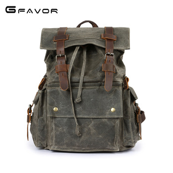 032518 new hot man canvas travel backpack student schoolbag