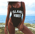 ISLAND VIBES bathing suit Women fashion Sexy swimsuit High cut legs Low back black red one piece bodysuit  suits swimwear