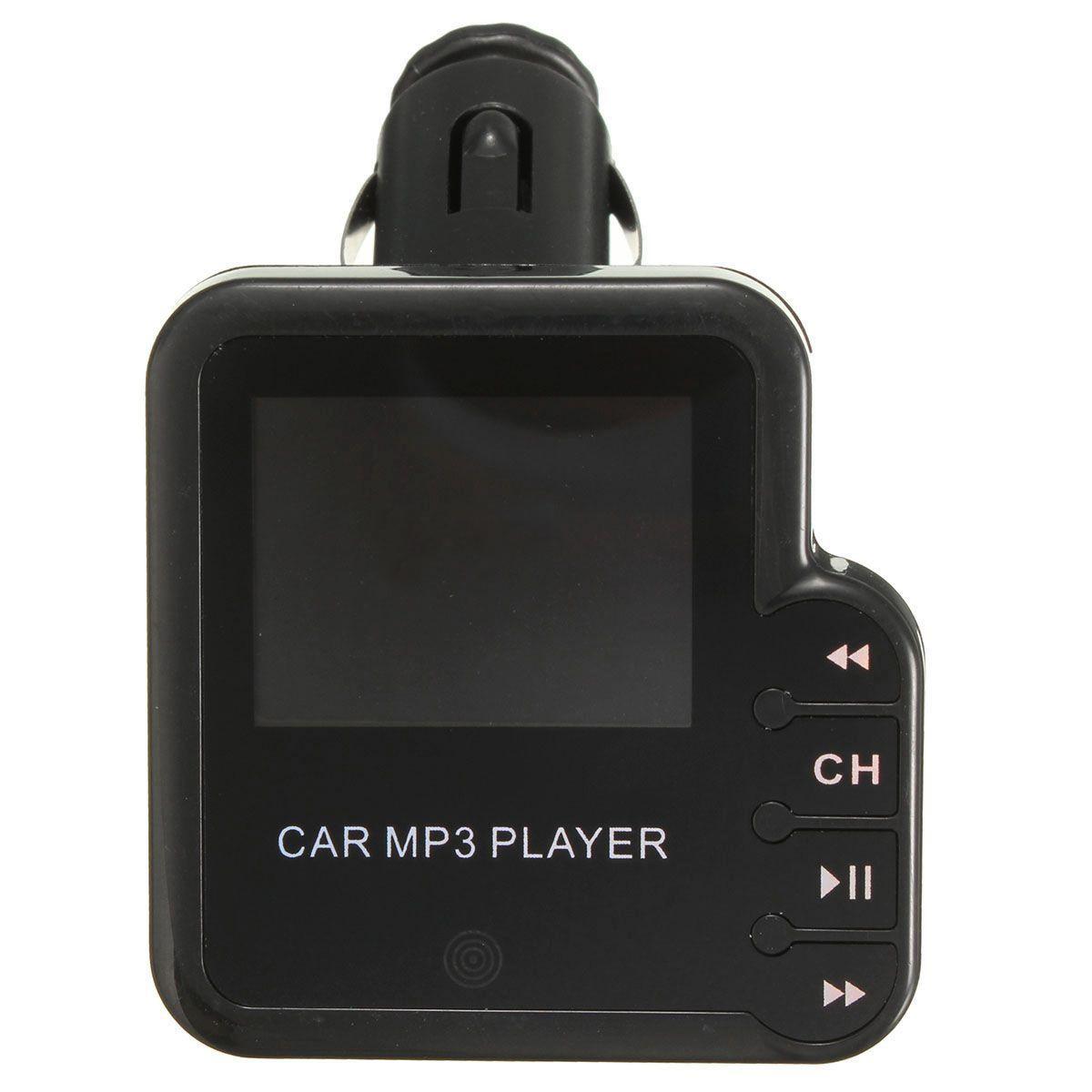Wholesale5pcs LCD Wireless Car MP3 Music FM Transmitter Modulator Stereo USB SD TF Remote US
