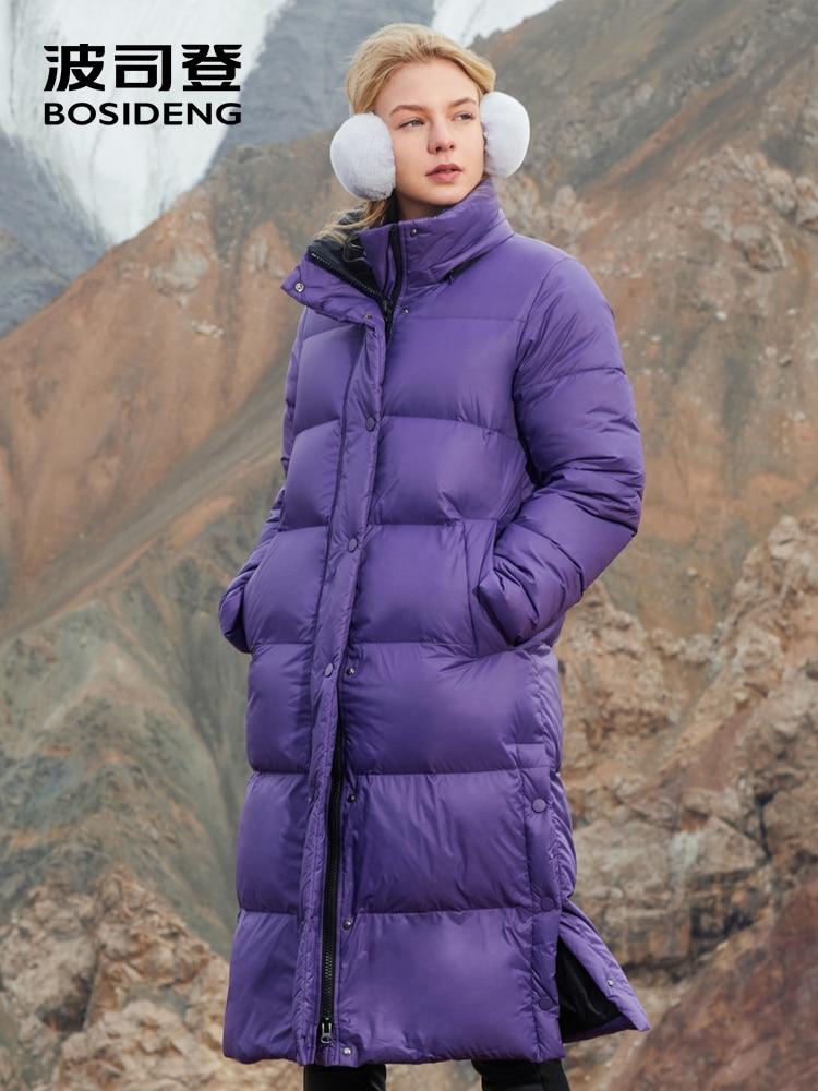 BOSIDENG 2018 BOUFFÉE Collection femmes duvet d'oie manteau X-Longue en duvet d'oie parka d'hiver épaissir outwear étanche B80141116