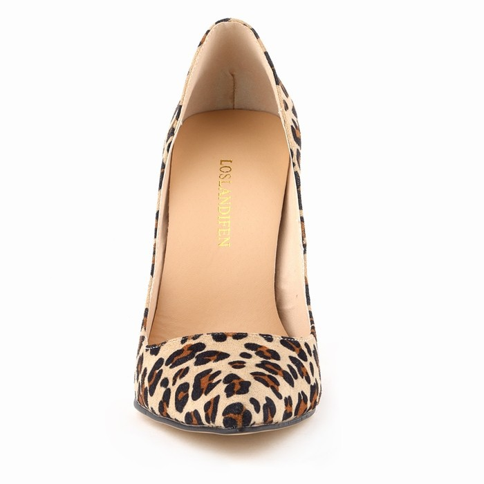 c7cbc98ca3b1 Lady Classic sexy woman pointed heels spring leopard print pumps ...