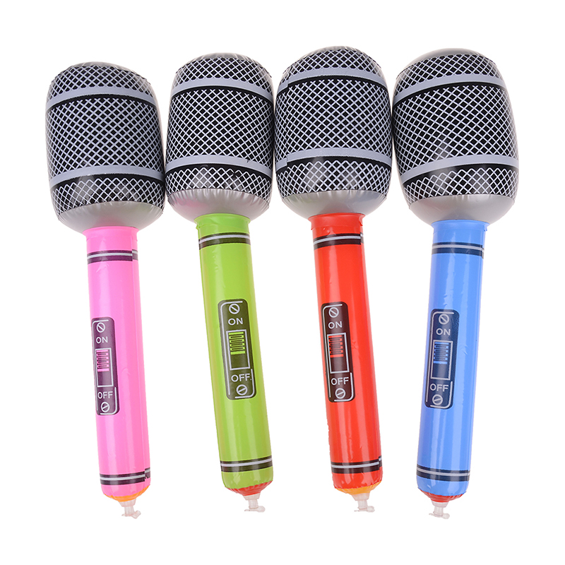 Stage Decorations Prop Inflatable Musical Toys For Children Kids Instruments Microphone Set Cool Fun Gift Party Supplies