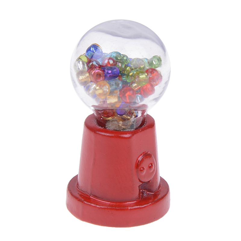 1:12 Scale Dollhouse Miniature Candy Machine Doll House Decor Accessories Pretend Play Furniture Toy Child Gift Classic Toys