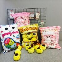 Cute Little chicken SAN X rabbit Sea lion cat plush a bag Creative birthday Gift toys for girlfriend Children soft pillow doll