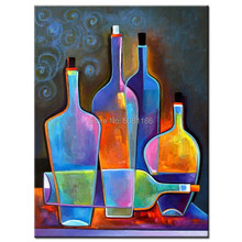 Hand-Painted modern bright Oil Painting coloring bottle Home Decor Wall Art Pictures Canvas Paintings Original