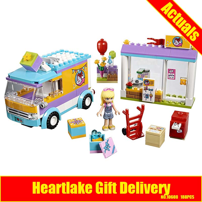 10608 Bela Friends Series Heartlake Gift Delivery Model Building Block Bricks Compatible With LEPIN Friends 41310
