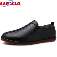 UEXIA New Fashion Casual Leather Shoes Men Leather Flats Soft Comfort Business Dress Men S Shoes