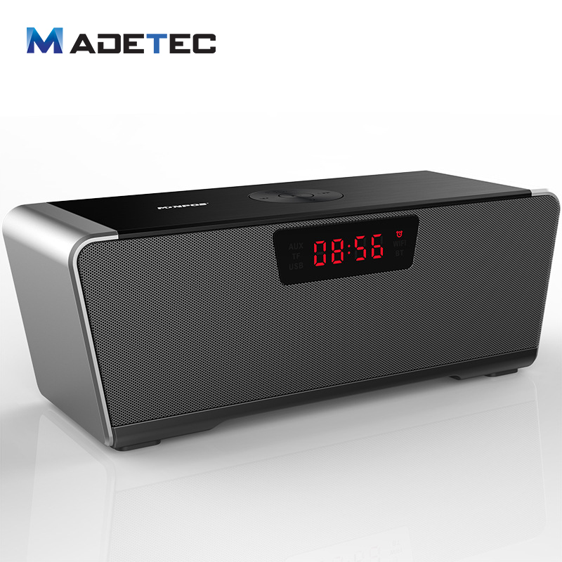 MADETEC Bluetooth Speaker 20W Outdoor Subwoofer D class Ampilifer APE FLAC Hifi Decode 5000mAh Stereo Speaker With LED Clock moon flac jeans
