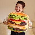Simulación de mercancías a comer almohada, hamburguesa linda juguetes de peluche grandes cojines de pizza, almohada siesta oficina, regalos creativos
