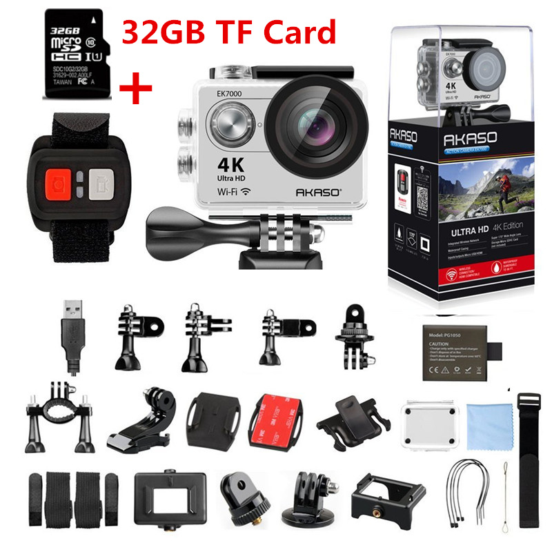 AKASO EK7000 4 K WIFI caméra d'action extérieure sport vidéo caméra pro wifi Ultra HD étanche DV caméscope aller étanche