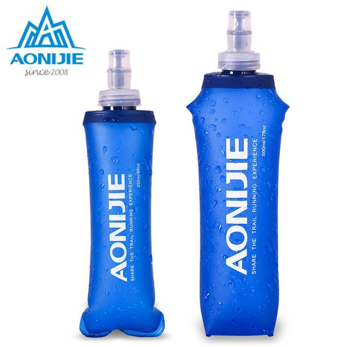 AONIJIE 150ml 250ml 500ml durevole BPA-Free Pieghevole Marsupio Portatile Bollitore Sport all'aria aperta Viaggi Escursionismo Bottiglia d'acqua