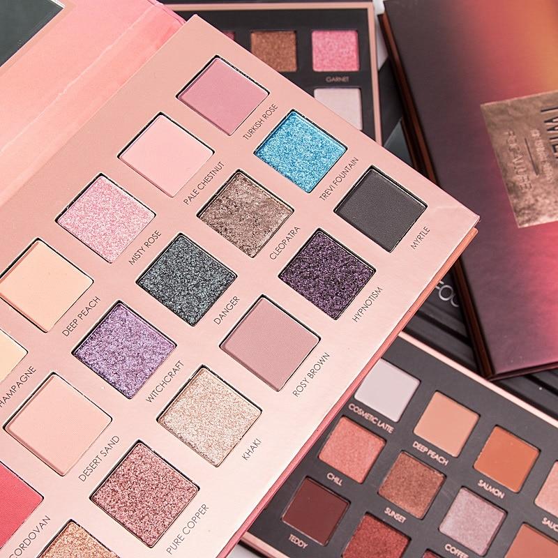 FOCALLURE 18 Cores Paleta sombra Fácil de Usar Brilho Olho Maquiagem de Longa-duração Fosco Sombra de Olho Cosméticos
