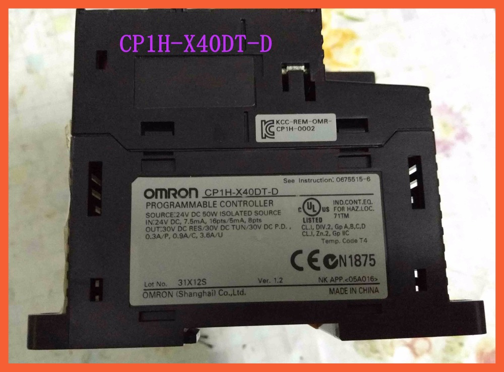 Used Original CP1H-X40DT-D CP1H PLC Controller CPU for Omron Sysmac 40 I/O Transistor 24V Encoder Pulse Counter new original cp1h x40dt d plc cpu 24vdc input 24 point transistor output 16 point