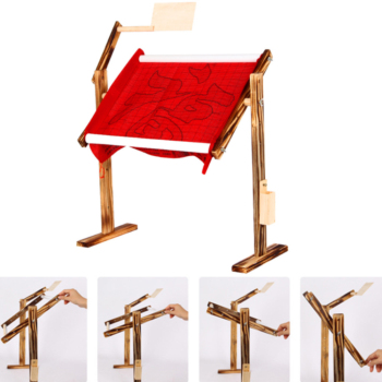 Adjustable Wood Craft Frame Desktop Cross Stitch Rack Practical Stand Solid Chinese Embroidery Tool Ergonomic Lightweight