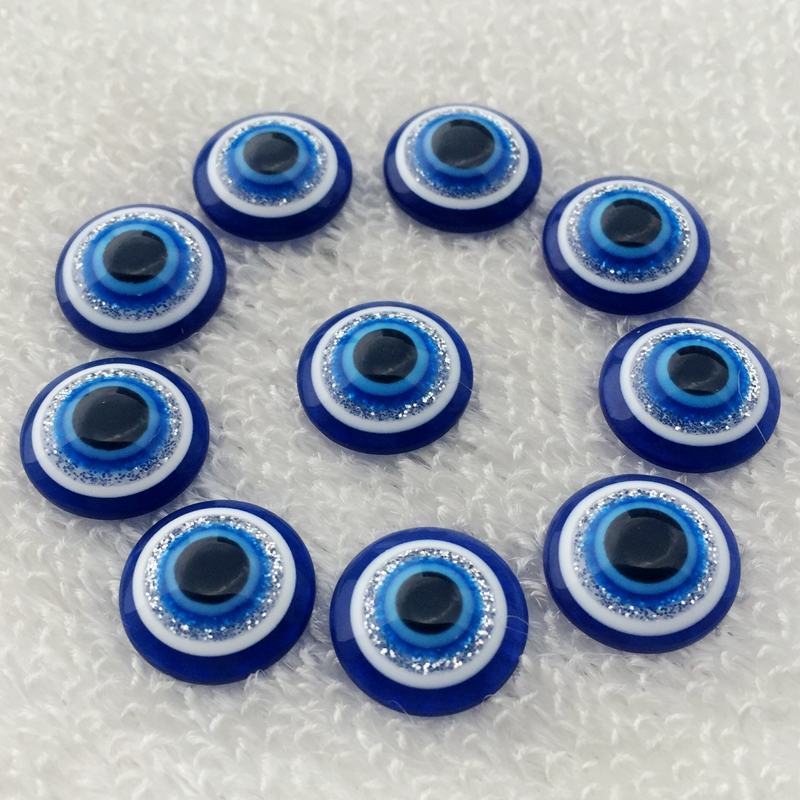 200 шт. 14 мм Смола Кабошоны круглые глаза Камея плоской задней Кабошон Ювелирные изделия Поиск для игрушек-Z081*10