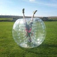 Пузырь Футбол мяч диаметр 5' человеческий надувные бампер шары Спорт на открытом воздухе игрушки 1.5 м Размеры