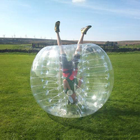 Bubble Soccer Ball Dia 5' Human Inflatable Bumper Bubble Balls Outdoor Sport Toy 1.5M Size