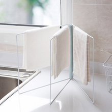 vertical foldable wipes kitchen wipe cloth shelf bathroom free punching desktop towel rackchina