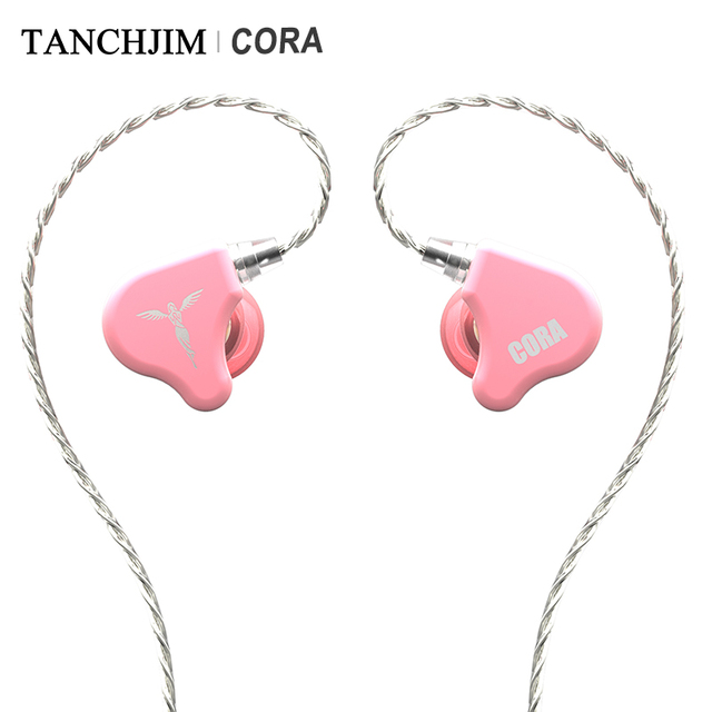 TANCHJIM CORA Dynamic Driver HiFi Audio In-ear Earphone with Sliver-plated OFC cable Macaron color earbuds for Xiaomi Huawei 2