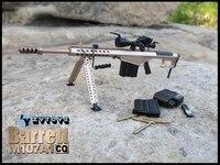 1/6 Scale 12 Inch Soldier annex Action Toys Figure Gun Weapon Model ZY TOYS Barrett M107A1 Sniper Rifle Golden CQ