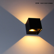 Outdoor Wall Mounted Waterproof IP65 20W Asway Rotating Aluminum Garden Wall Sconce Up Down Led Wall Lights 100-240V Black White
