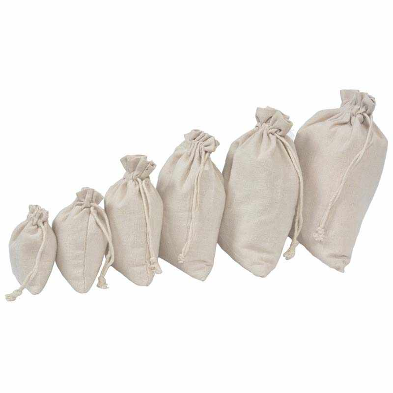 Kualitas Tinggi Grosir Harga Resuable Yute Linen Serut Kantong Kemasan Hadiah Tas Logo Dicetak Natal Dropshipping
