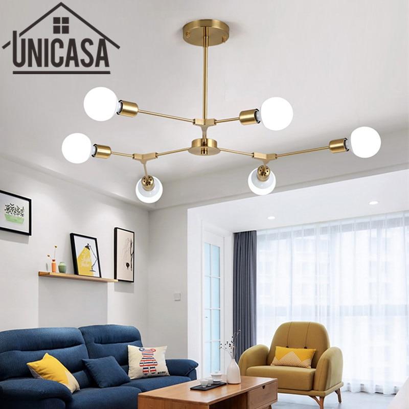 где купить  Vintage Pendant Lights Modern gold Ceiling Lamp Multiple Rod Wrought Iron Lighting LED Living Room Art decorate Industrial Bar  по лучшей цене