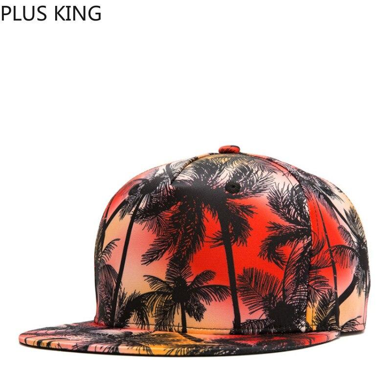 3e35fe41ac43f4 2019 Cool 3D Print Coconut Tree Hip Hop Hat for Men Women Snapback Cap  Casquette Homme 4 Colors