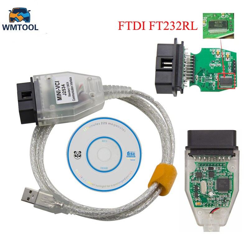 Pour Toyota V12.20.024 MINI VCI J2534 Avec FTDI FT232RL Puce De Diagnostic Interface TIS Techstream minivci J2534 OBDII OBD2 Câble