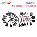 New arrival Best quality Full set cables for cars and trucks tcs cdp pro cables (8 car cables + 8 trucks cables ) DHL   free