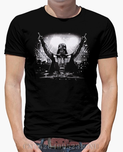 Summer Limited t shirts mens DJ Darth Vader short O neck Novelty Cotton hip hop tees men Clothing