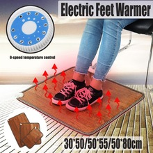купить Electric Heating Pad Thermal Foot Feet Warmer Heated Floor Carpet Mat Pad Blanket Home Office Warm Feet Heater по цене 1165.2 рублей