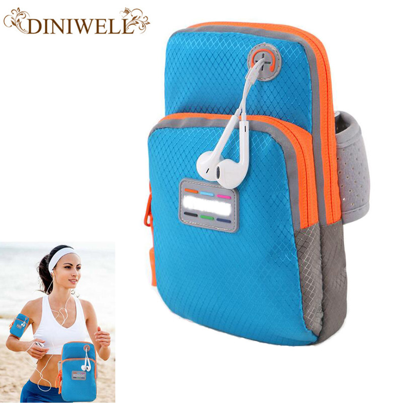 DINIWELL Brand  Women Travel Mobile Arm Bag Man WristBag IPhone 6 Plus Ladies Lovely Handbag Organizer
