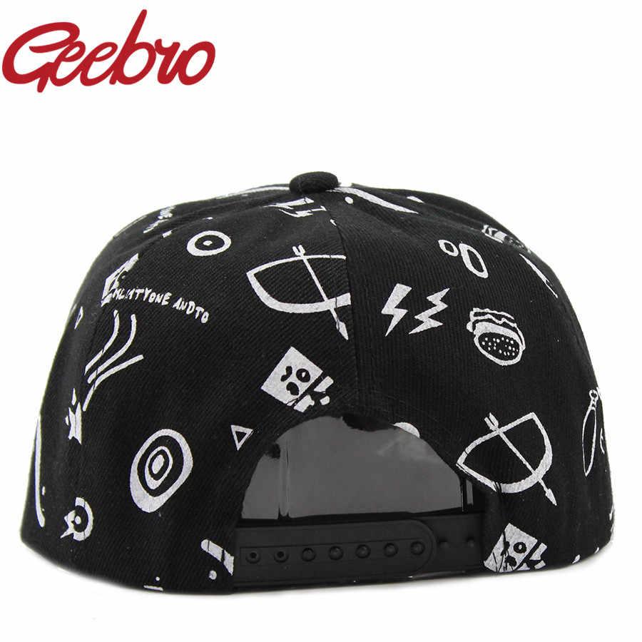 2017 último estilo gorra de béisbol de hombre blanco y negro Graffiti letras impresas gorras Snapback marca Hip-Hop sombrero para mujeres JS070