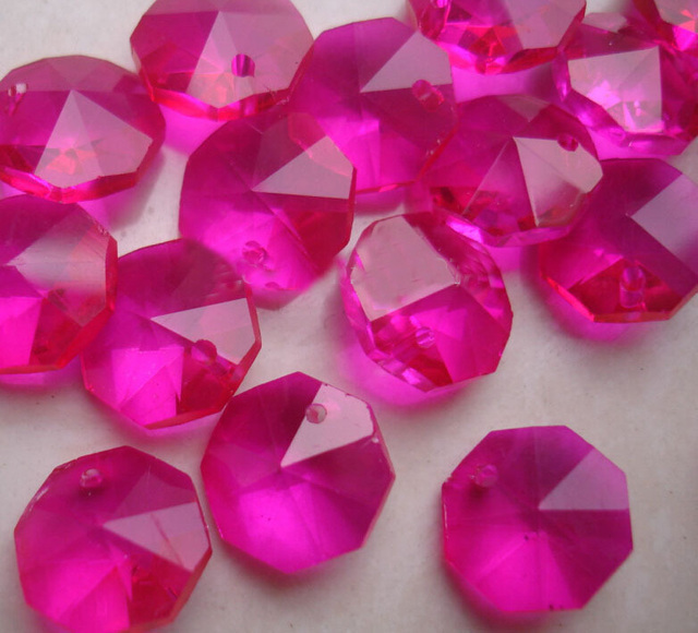 1000pcslot fuchsia color 14mm crystal glass octagon beads 1 hole 1000pcslot fuchsia color 14mm crystal glass octagon beads 1 hole for chandeliers parts aloadofball Images
