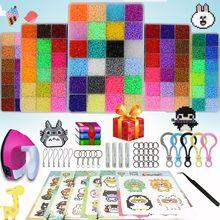 36000pcs 24/72 Colors 5mm/2.6mm EVA Hama Perler Beads Toy Kids Fun Craft DIY Handmaking Fuse Bead Multicolor gifts with Iron