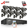 ANRAN P2P Plug And Play 1080P 8CH POE NVR HD 2 8 12MM Zoom Lens 78
