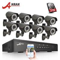 ANRAN P2P Plug And Play 1080P 8CH POE NVR HD 2 8 12MM Zoom Lens 78