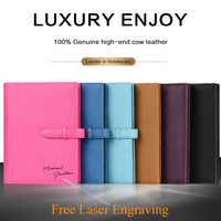 Lichee Notebook Logo DIY Custom Genuine Leather A5 Writing Pads Loose leaf Leader Rings Binder Pouch for Business Planner Diary