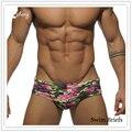Новые Поступления Модного Бренда мужская Лето Движения SwimmingShorts Мужской Сексуальная Камуфляж SwimBriefs Шорты Человек Пляжные Шорты