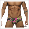 New Arrivals Fashion Brand Men's Summer Motion SwimmingShorts Male Sexy Camouflage SwimBriefs Shorts Man Beach Board Shorts