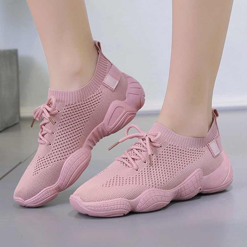 Women's Summer Footwear Flat Light Mesh tenis Pink Black White Sneakers Casual Shoes Woman Sneakers Women Shoes chaussures femme