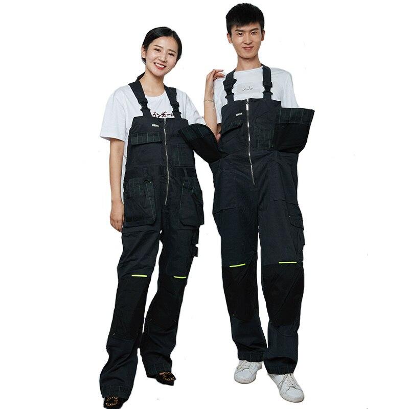 Hommes Streetwear outillage Salopette Mâle Vêtements de Travail baggy Salopette Lâche pantalon de Bretelle pour Travailleur Rue de danse sangle pantalon D403