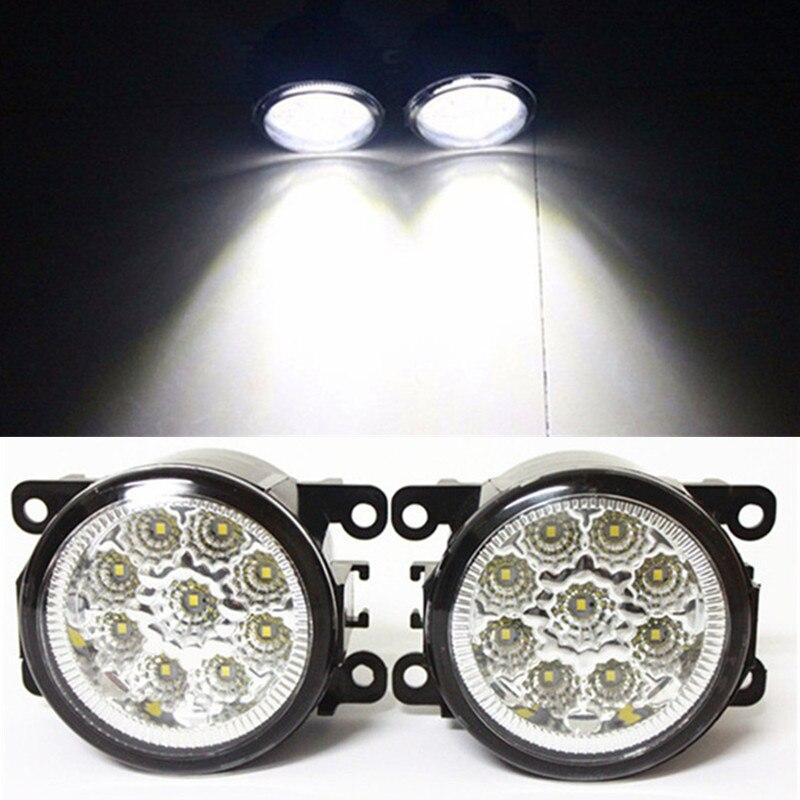 For FORD FOCUS III MK3 Saloon  2011-2015 Car Styling LED Fog Lamps Refit Blue:10000K  White:6000K  Yellow:4300K  12V fog lights
