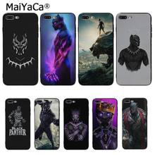 Maiyaca Marvel Pahlawan Panther Hitam Novelty Fundas Phone Case Cover UNTUK iPhone 8 7 6 6S PLUS 5 5S SE XR X XS Max Coque Shell(China)