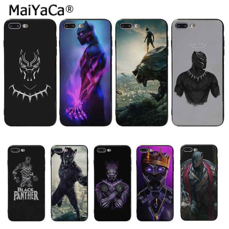 MaiYaCa Marvel Heroes Black Panther Novelty Fundas Phone Case Cover for iPhone 8 7 6 6S q50